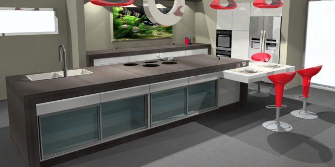 Bemet in de interieurbouw - keukens hout TopSolid'Wood