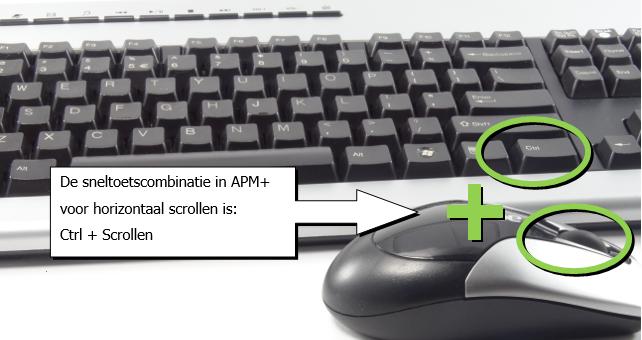 Horizontaal scrollen in APM+