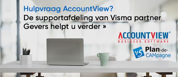 Hulpvraag AccountView? Gevers helpt u verder »