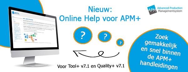 Nieuw Online Help voor APM+