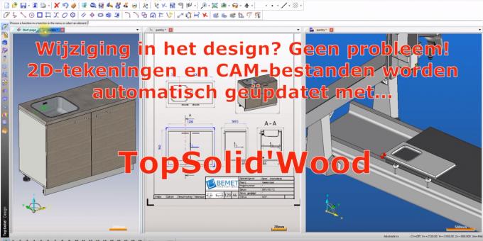 TopSolid'Wood - Associativiteit tussen uw 3D-design, 2D-tekeningen en CAM-bestanden,
