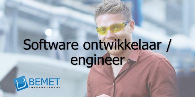 Bemet International zoekt een Software ontwikkelaar/engineer | Vacature