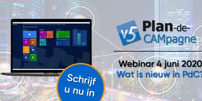 Volg het webinar 'Wat is nieuw in Plan-de-CAMpagne' op donderdag 4 juni
