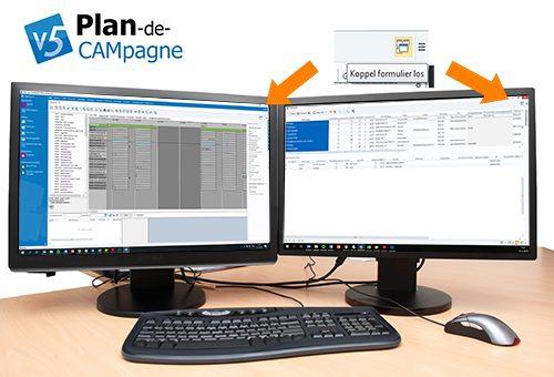 Werk met meerdere schermen in Plan-de-CAMpagne