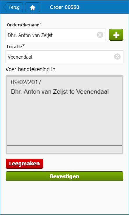 Digitale handtekening in PdC Mobiel - Plan-de-CAMpagne