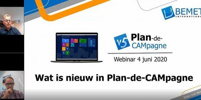 Webinar Wat is nieuw in Plan-de-CAMpagne